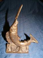 VINTAGE BRASS SWORD FISH