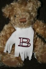 "11"" Burberry Fragrances Plush Teddy Bear Monogrammed Scarf B Brown Tan Plaid HTF"