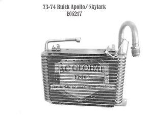 73 74 1973 1974 Buick Apollo Skylark Evaporator Core OEM EV6217