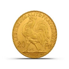 France 20 Francs Rooster Gold Coin - Random Date - About Uncirculated (AU)