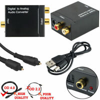 Digital Optical Coaxial Toslink to Analog 3.5mm Jack RCA Audio Converter Adapter