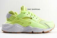 Nike Air Huarache Run (Womens Size 7) Shoes 634835 702  Light Volt Multicolor