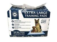 50 Absorb Extra Large Pets Training Pads XL Pet Puppy Dog Pad Potty No Leak Pee.