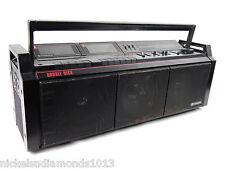 HITACHI TRK-3D8H Vintage 3 Speaker Ghetto Blaster Boombox 3D Sound Woofer LOUD!