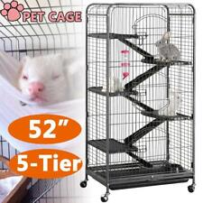 5-Tier Ferret Cat Cage Powder Coated House For Hamster Guinea Pig Chinchilla 52""