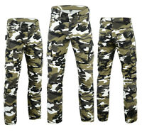 Black Tab Comfort Fit Camo Cargo Motorcycle Protective reinforced Kevlar Jeans