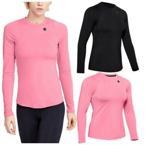 2021 Under Armour Ladies Rush Long Sleeve Training Top Celliant UA Gym Running