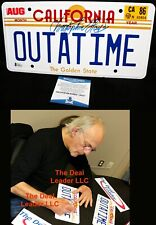 !! Christopher Lloyd Back To The Future OUTATIME Signed License Plate BAS PSA !!