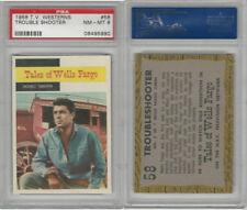 1958 Topps, TV Westerns, #58 Tales of Wells Fargo, Trouble, PSA 8 NMMT