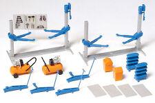 Preiser 17186 HO Einrichtung KFZ Werkstatt Bausatz farbige