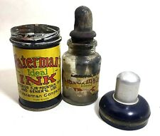 Antique Waterman Ideal Traveller Inkwell w/Original INk Bottle, 1910 (#A71)