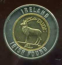 IRLANDE 1pound    monnaie européenne, Universel Bimétallique jeton