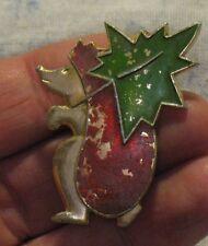 Hedgehog Russian pin badge Buttons Cartoon Hero Urchin Vintage metal Maple Leaf