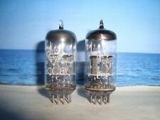 ECC81 TELEFUNKEN ( 12AT7 , 6201 , E81CC ) # Matched Pair # NEAR  NOS # <> (1675)