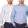 Tommy Hilfiger Men's Regular Fit Spread Collar Long Sleeve Dress Shirt Two Pack