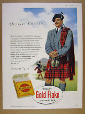 1951 scottish chieftain art Wills' Gold Flake Cigarettes vintage print Ad
