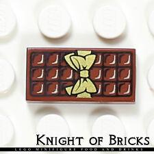 LEGO Minifigure Food BROWN Chocolate Bar Gift Kitchen Bakery Flat Tile 1x2