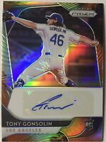 Tony Gonsolin Prizm Auto RC 🔥 2020 Prizm Orange Green Clash SP /50 🔥 LA Dodger