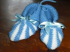 ladies hand knitted booties/slippers,size 5.