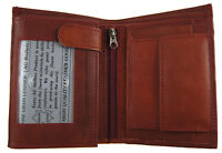 AG Wallets Men Premium Leather Hipster Trifold Wallet 3 ID 8 card Slots Burgundy