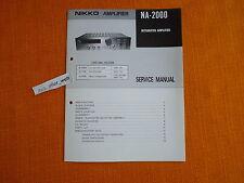 Service MANUAL Nikko NA 2000 English schema elettrico riparazione manuale istruzioni