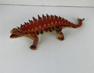 """ANKYLOSAURUS 1986 Dor Mei Vintage Vinyl Dinosaur 1034940 Toy Godzilla 14"""" Orange"""