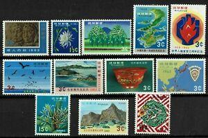 RYUKYU ISLANDS #106-17 1963 COMMEMORATIVE ISSUES-MINT-OG/LH