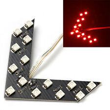 2pcs Red 14 SMD LED Arrow Panel Car Rear View Mirror Indicator Turn Signal Light