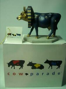 "Westland Cow Parade TUTANCOWMON Ceramic Medium Size 5.6"" Long 4.25"" High Box Tag"