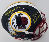 "DWAYNE HASKINS Autographed ""Hail To The Redskins"" Black Matte Helmet FANATICS"