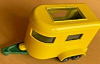 Vintage Matchbox Lesney No 43 Yellow Pony Trailer with Green Base - VNM