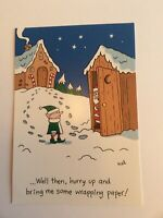 Vtg Connections From Hallmark Saturdays Christmas Card: Santa In Outhouse