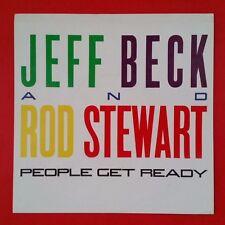 "JEFF BECK People Get Ready b/w Back On The Street 45 rpm 7"" wPS VG++ Rod Stewart"
