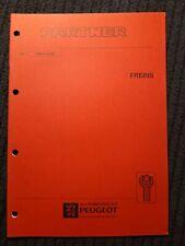 (311MB) Manuel d'atelier PEUGEOT PARTNER - Freins.