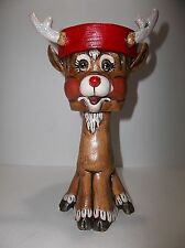 Vintage Ceramic Rudolph The Red Nosed Reindeer Planter 9.25""