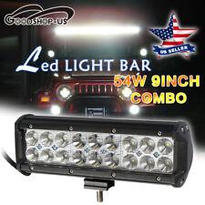 "54W 9"" Led Work Light Bar Spot Flood Combo Offroad Fog Driving LampTruck SUV 4WD"