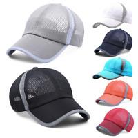 Women Men Mesh Trucker Baseball Cap Classic Adjustable Snapback Sun Beach Hat