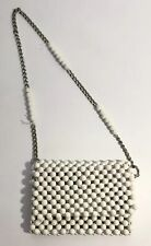 Edun Women Bag White Beads Mini Bag