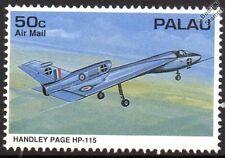 RAF HANDLEY PAGE HP.115 expérimentales aile delta avion cachet (1995 Palau)