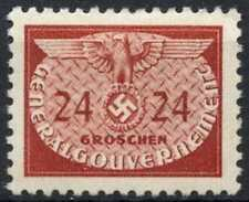 Poland German Occupation 1940 SG#O412, 24g Brown-Red Official MH #E3404
