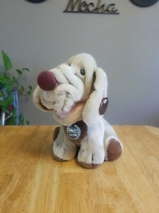 Wrinkles Dog Ganz Bros Light Tan Stuffed Animal Heritage Collection Vintage 1984