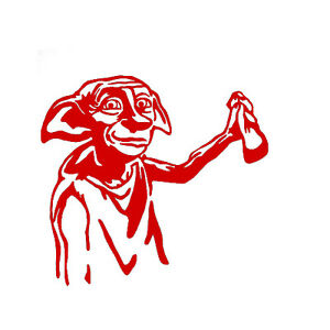 Dobby Vinyl Decal Sticker for Macbook Air Pro Laptop Car Window Bumper Auto