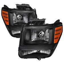 Per Dodge 07-11 Nitro Nero Alloggiamento Ricambio Fari ATX Mtx R/T Slt Sxt