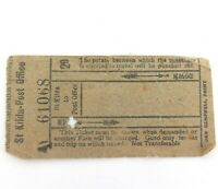 "EARLY 1900s DUNEDIN TRAMWAYS, NEW ZEALAND ""St KILDA TO POST OFFICE"" TRAM TICKET."