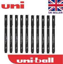10 x UNI PIN DRAWING PEN FINELINER ULTRA FINE LINE MARKER IN BLACK 0.1Line
