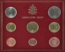 42377) Vaticano Euro KMS 2004, da 1 cent a 2 euro, nella cartella, St.