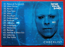 DAVID BOWIE - The Man Who Fell To Earth - Card #54 - Checklist - Unstoppable