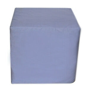 """20"""" Square Pouf Ottoman Cover Floor Decorative Grey Seating Ottoman Covers Throw"""