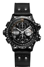 H77736733 Hamilton Khaki Aviation X-Wind Mens Automatic Watch Black Leather 44mm