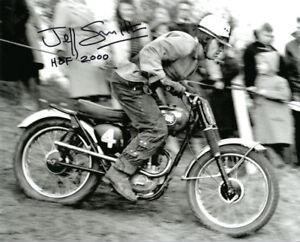 JEFF SMITH SIGNED 8x10 PHOTO + HOF 2000 BRITISH MOTOCROSS LEGEND BECKETT BAS